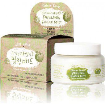 Whamisa Organic Fruits Peeling Finger Mitt Sebum Care (Natural Fermentation) - Спонжи для пилинга на основе фруктовых ферментов (для жирной кожи)
