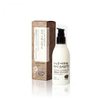 Whamisa Organic Flowers/Apple Sebum Treatment (Natural Fermentation) - Эмульсия для ухода за жирной кожей на основе цветочных и яблочных ферментов