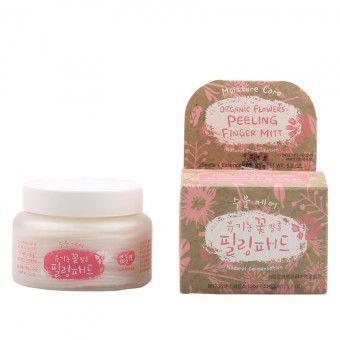 Whamisa Organic Flowers Peeling Finger Mitt Moisture Care (Natural Fermentation) - Спонжи для пилинга на основе цветочных ферментов (увлажняющие)