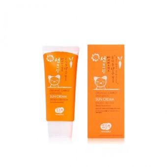 Whamisa Organic Carrot Baby&Kids Sun Cream SPF 50+ / PA++++ (Natural Fermentation) - Детский солнцезащитный крем на основе ферментов моркови SPF 50+ / PA++++