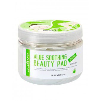 JJOYY Aloe Soothing Beauty Pad Jumbo - Глубокоувлажняющие, успокаивающие и регенерирующие диски для лица с натуральным экстрактом Алоэ, Пантенолом и Аргинином