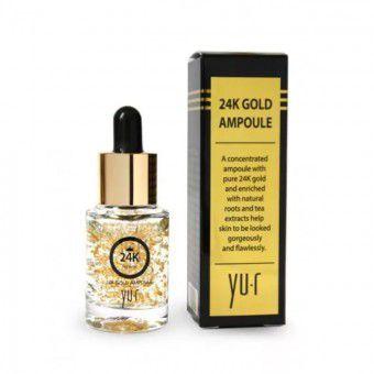 Yu.R Premium 24K Gold Ampoule (15ml.) - Сыворотка для лица омолаживающая с 24К золотом