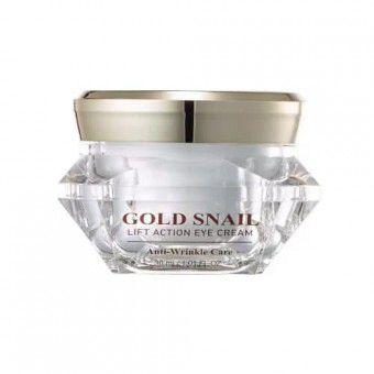 J&G Cosmetics Gold Snail Lift Action Eye Cream - Антивозрастной крем для кожи вокруг глаз с золотом и слизью улитки