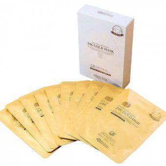"""J&G Cosmetics Gold Snail Pore Care & Moisturizing 24K Gold Mask - Маска для лица """"Очищение и увлажнение"""""""