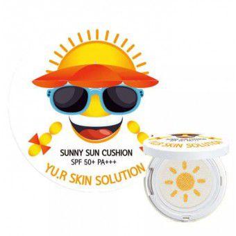 Yu.R Sunny Sun Cushion SPF50+PA+++ - Многофункциональное солнцезащитное средство