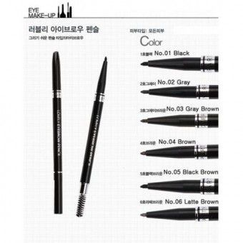 TonyMoly Lovely Eyebrow Pencil 04 Brown - Карандаш для бровей