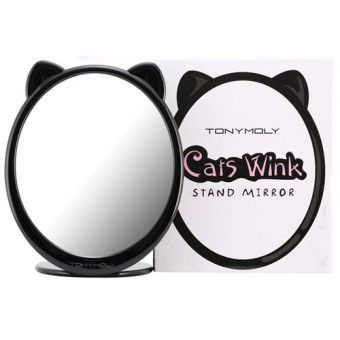 TonyMoly Cats Wink Stand Mirror - Зеркало панда