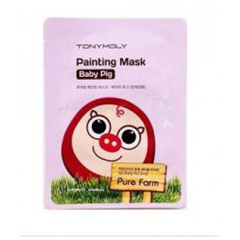 TonyMoly Pure Farm Painting Mask – Baby Pig - Маска тканевая