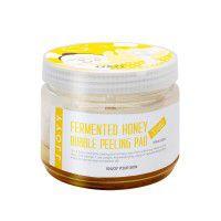 Fermented Honey Bubble Peeling Pad Jumbo - Интенсивно обновляющие, регенерирующие и выравнивающие тон кожи пилинг-диски для лица и тела с ферментированным экстрактом Меда, Витамином С и Фруктовыми кислотами