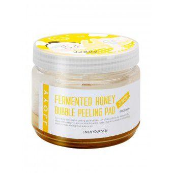 JJOYY Fermented Honey Bubble Peeling Pad Jumbo - Интенсивно обновляющие, регенерирующие и выравнивающие тон кожи пилинг-диски для лица и тела с ферментированным экстрактом Меда, Витамином С и Фруктовыми кислотами