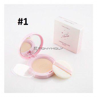 TonyMoly Luminous Baby Aura Pact 01 Skin Beige - Пудра, придающая сияние