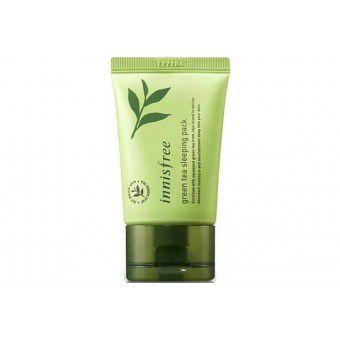 Innisfree Green Tea Sleeping Pack - Ночная маска на основе зеленого чая в тубе