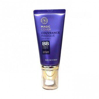 The Face Shop Face Magic Cover BB Cream #V201 Apricot Beige SPF20 - Универсальный ВВ-крем с плотным покрытием