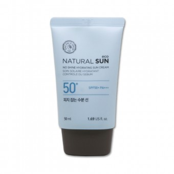 The Face Shop Natural Sun Eco No Shine Hydrating Sun Cream SPF50+ PA +++ - Увлажняющий солнцезащитный крем