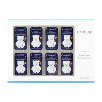 Laneige White Dew Vita Capsule Sleeping Mask - Витаминная ночная осветляющая капсульная маска