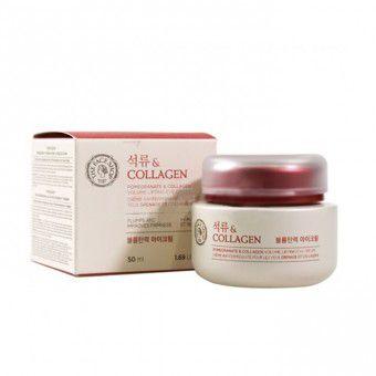The Face Shop Pomegranate & Collagen Volume Lifting Eye Cream - Лифтинг-крем с гранатом и коллагеном для кожи вокруг глаз 50 мл.