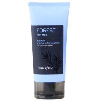 Innisfree Forest For Men Moisture Shaving & Cleansing Foam - Увлажняющая пенка для умывания и бритья