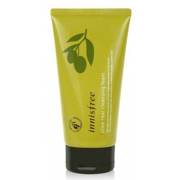 Купить Olive Real Cleansing Foam - Пенка для умывания с органическим маслом оливы, Innisfree