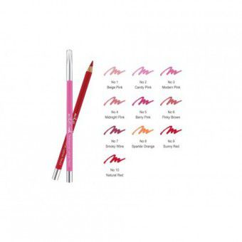 Mik@Vonk Professional Lipliner Pencil (Wood) NO.5 Berry Pink - Деревянный карандаш для губ