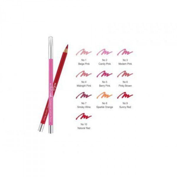Professional Lipliner Pencil (Wood) NO.2 Candy Pink - Деревянный карандаш для губ