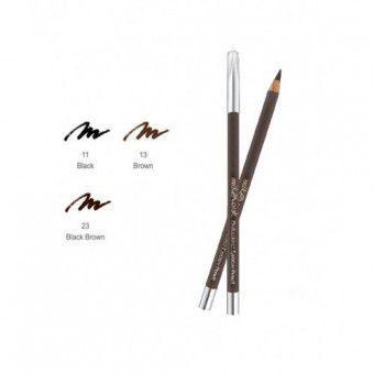 Mik@Vonk Professional Eyebrow Pencil (Wood) NO.11 Black - Деревянный карандаш для бровей