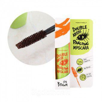 TonyMoly Double Needs Pang Pang Mascara 04 Brown - Тушь для ресниц