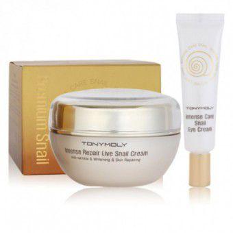 TonyMoly Intense Care Snail Cream - Набор улиточный крем для лица и глаз
