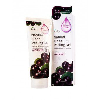 Ekel Acai Berry Natural Clean Peeling Gel - Пилинг-скатка с экстрактом ягод асаи