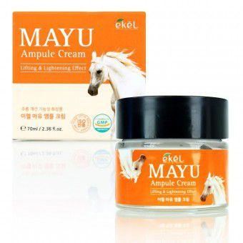 Ekel Mayu Ampule Cream - Крем ампульный для лица с лошадинным жиром