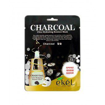 Ekel Charcoal Ultra Hydrating Essence Mask - Тканевая маска с древесным углем