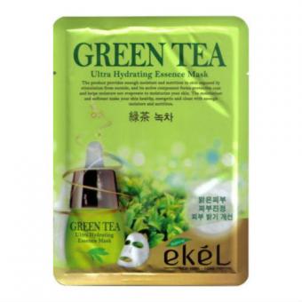 Ekel Green Tea Ultra Hydrating Essence Mask - Тканевая маска для лица с зеленым чаем