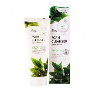 Ekel Green Tea Foam Cleanser - Пенка для умывания с экстрактом зеленого чая