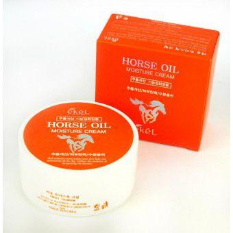Ekel Horse Oil Moisture Cream - Увлажняющий крем для лица с лошадиным жиром