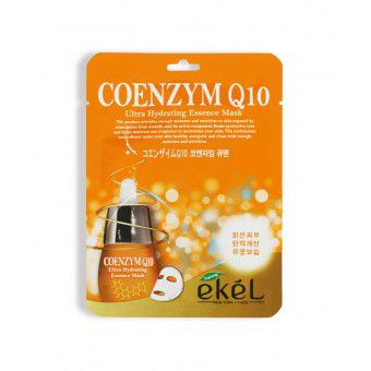 Ekel Coenzyme Q10 Ultra Hydrating Essence Mask - Антиоксидантная тканевая маска для лица