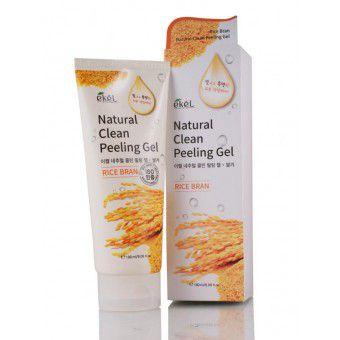 Ekel Rice Bran Natural Clean Peeling Gel - Пилинг-скатка с экстрактом коричневого риса