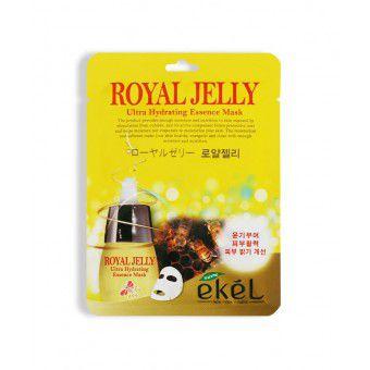 Ekel Royal Jelly Ultra Hydrating Essence Mask - Тонизирующая тканевая маска для лица с маточным молочком