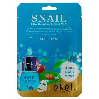 Ekel Snail Ultra Hydrating Essence Mask - Тканевая маска для лица с муцином улитки