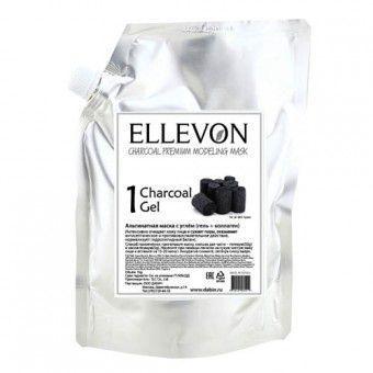 Ellevon Charcoal Modeling Mask (1000ml.+100ml.) - Альгинатная маска премиум с углем (гель + коллаген)
