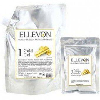 Ellevon Gold Modeling Mask (1000ml.+ 100ml.) - Альгинатная маска премиум с золотом (гель + коллаген)