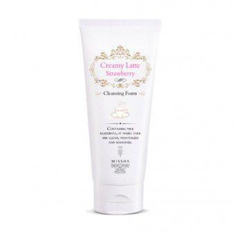 Missha Creamy Latte Strawberry Cleansing Foam - Пенка для умывания