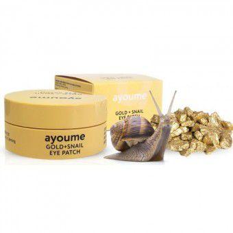 Ayoume Gold + Snail Eye Patch - Патчи для глаз с золотом и улиточным муцином
