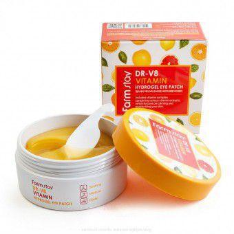 Farm Stay DR.V8 Vitamin Hydrogel Eye Patch - Гидрогелевые патчи с витаминами