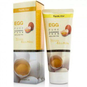 Farm Stay Egg Pure Cleansing Foam - Очищающая пенка для лица с яичным экстрактом