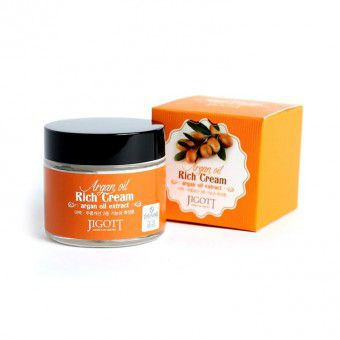 Jigott Argan Oil Reach Cream - Насыщенный крем для лица с аргановым маслом