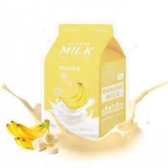 A'pieu Banana Milk One-Pack - Питательная тканевая маска с молочными протеинами и экстрактом банана