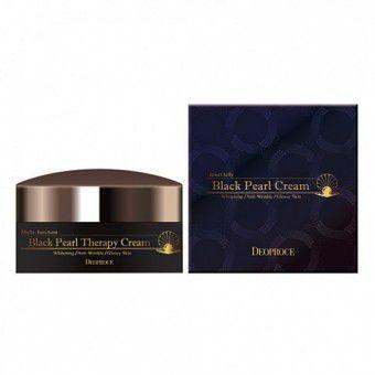 Deoproce Black Pearl Therapy Cream - Антивозрастной крем с черным жемчугом