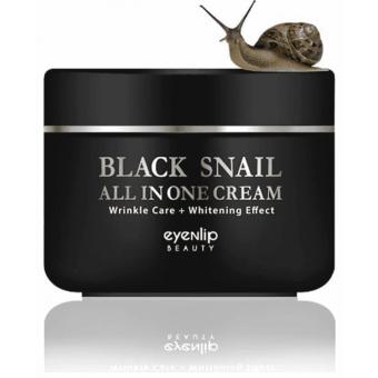 Eyenlip Black Snail All In One Cream - Многофункциональный крем с муцином черной улитки