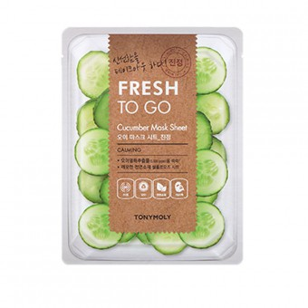 TonyMoly Fresh To Go Mask Sheet (Cucumber) - Тканевая маска для лица с экстрактом огурца