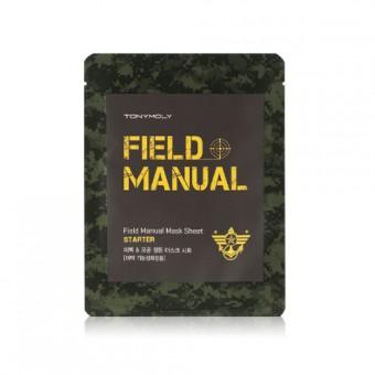TonyMoly Field Manual Mask Sheet Starter - Маска для лица мужская увлажняюще-питательная