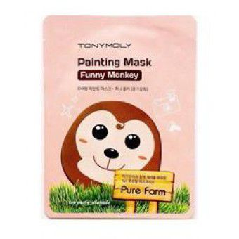 TonyMoly Pure Farm Painting Mask – Funny Monkey - Маска тканевая